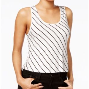 NEW! MACY'S KENSIE CROPPED TOP XL STRIPPED